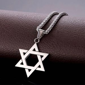 New Stainless Steel Star Of David Necklace